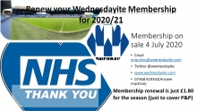 Renew your 2020/21 Membership - On sale 4 July 2020